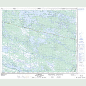 Canadian Topo Map - Raft River - Map 023H10