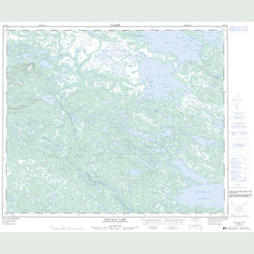 Canadian Topo Map - Colville Lake - Map 023H12