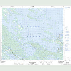 Canadian Topo Map - Sandgirt Peak - Map 023H14