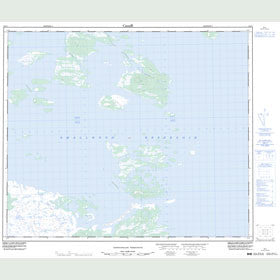 Canadian Topo Map - Map 023I01