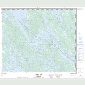 Canadian Topo Map - Timmins Lake - Map 023I04