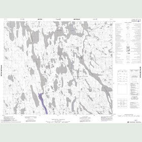 Canadian Topo Map - Map 023I06