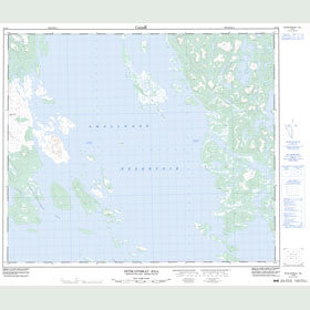 Canadian Topo Map - Petscapiskau Hill - Map 023I08