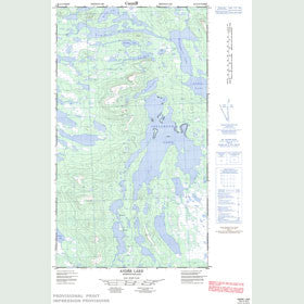 Canadian Topo Map - André Lake - Map 023I12W