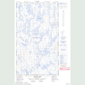 Canadian Topo Map - Marion Lake - Map 023I13E