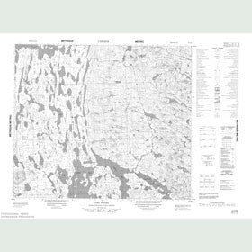 Canadian Topo Map - Lac Potel - Map 023I14