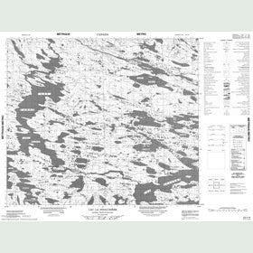 Canadian Topo Map - Lac la Pinaudière - Map 023I16