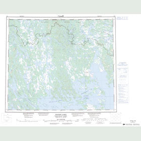 Canadian Topo Map - Woods Lake - Map 023I