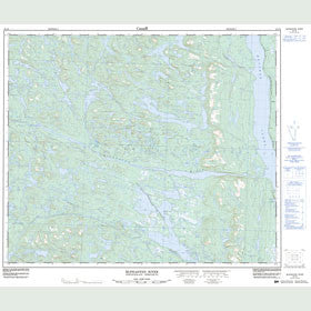 Canadian Topo Map - McPhadyen River - Map 023J02