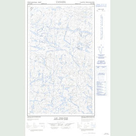 Canadian Topo Map - Lac Desliens - Map 023J06E