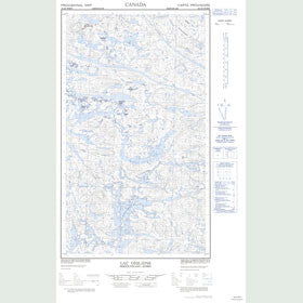 Canadian Topo Map - Lac Desliens - Map 023J06W