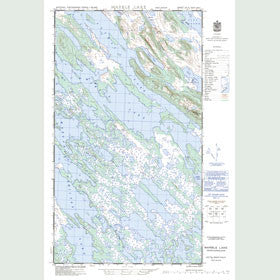 Canadian Topo Map - Marble Lake - Map 023J08W