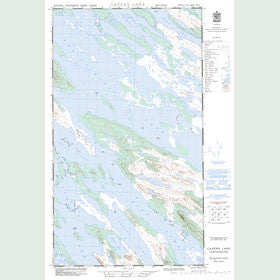 Canadian Topo Map - Cavers Lake - Map 023J09W