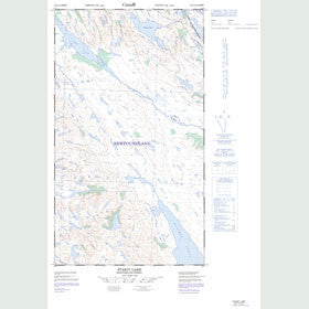 Canadian Topo Map - Stakit Lake - Map 023J10W