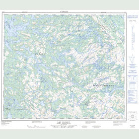 Canadian Topo Map - Lac Clugny - Map 023J11