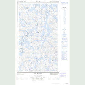 Canadian Topo Map - Lac Avezac - Map 023J12E