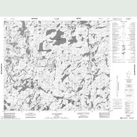 Canadian Topo Map - Lac Malapart - Map 023K02