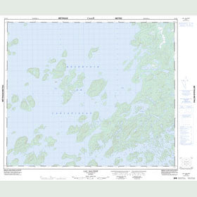 Canadian Topo Map - Lac Salvert - Map 023K05