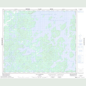 Canadian Topo Map - Lac Lantagnac - Map 023K06