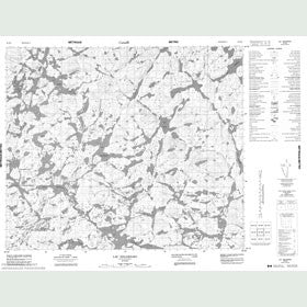 Canadian Topo Map - Lac Delornieu - Map 023K08