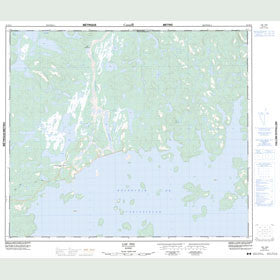 Canadian Topo Map - Lac Pau - Map 023K13