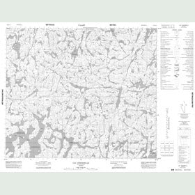 Canadian Topo Map - Lac Costebelle - Map 023K15