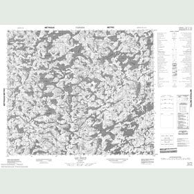 Canadian Topo Map - Lac Niaux - Map 023L02