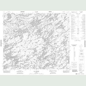 Canadian Topo Map - Lac Holmer - Map 023L04