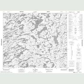 Canadian Topo Map - Lac Hervé - Map 023L06