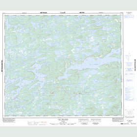 Canadian Topo Map - Lac Malaval - Map 023L11
