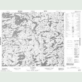 Canadian Topo Map - Lac Heslin - Map 023L14