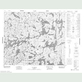 Canadian Topo Map - Lac Cognac - Map 023L16