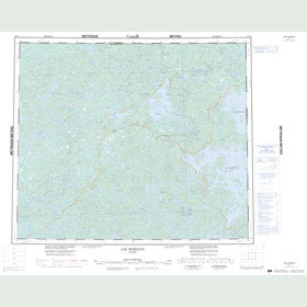 Canadian Topo Map - Lac Hurault - Map 023L