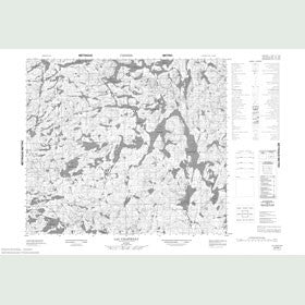 Canadian Topo Map - Lac Chastenay - Map 023M01