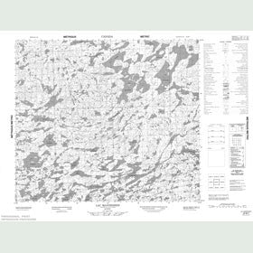 Canadian Topo Map - Lac Mannessier - Map 023M07