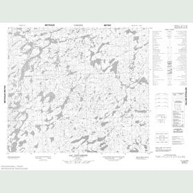 Canadian Topo Map - Lac Chavamond - Map 023M11