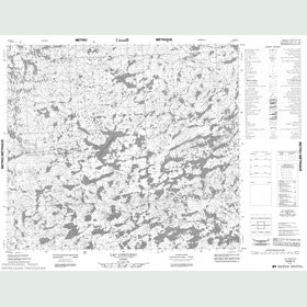 Canadian Topo Map - Lac Gancleau - Map 023M12
