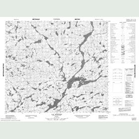 Canadian Topo Map - Lac Mortier - Map 023M14