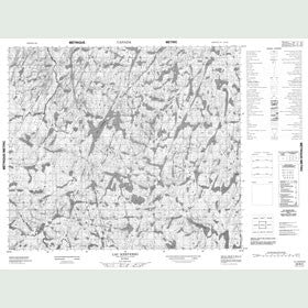Canadian Topo Map - Lac Kerverso - Map 023N02