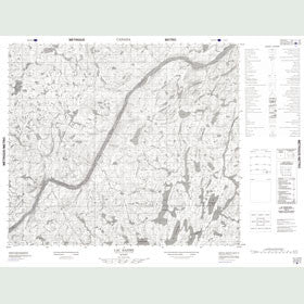 Canadian Topo Map - Lac Bazire - Map 023N03