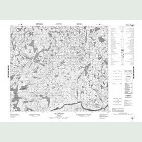Canadian Topo Map - Lac Tassigny - Map 023N04