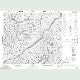 Canadian Topo Map - Lac Lachaîne - Map 023N07