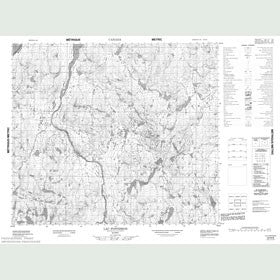 Canadian Topo Map - Lac Fontisson - Map 023N08