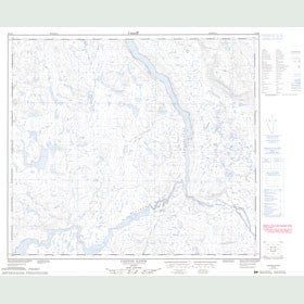 Canadian Topo Map - Canyon Eaton - Map 023N09
