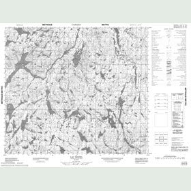 Canadian Topo Map - Lac Riopel - Map 023N10
