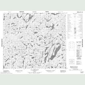 Canadian Topo Map - Lac Lefrançois - Map 023N12