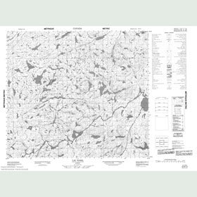 Canadian Topo Map - Lac Baril - Map 023N14