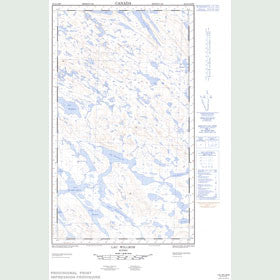 Canadian Topo Map - Lac Willbob - Map 023O01E
