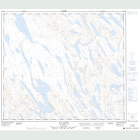 Canadian Topo Map - Lac le Fer - Map 023O06