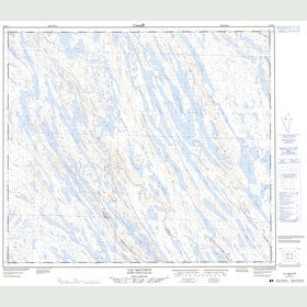 Canadian Topo Map - Lac Bacchus - Map 023O07